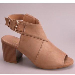 Shoes - ️5Peep Toe Booties with Comfy Block Heel